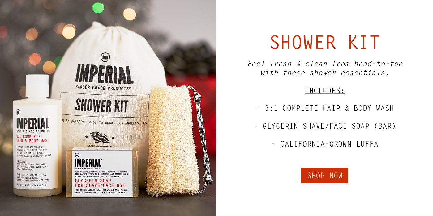 Shower Kit - Imperial Barber Products Holiday Gift Guide 2018