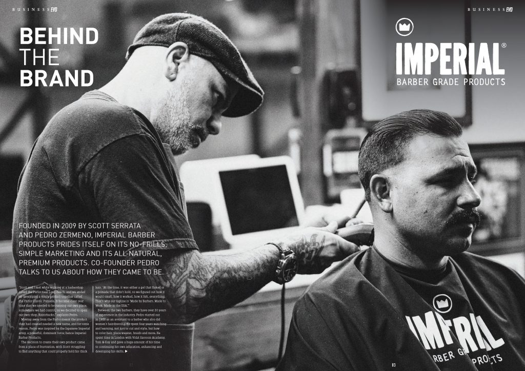BarberEvo NA Issue 4 - Behind The Brand - Imperial Barber Products - Page 1