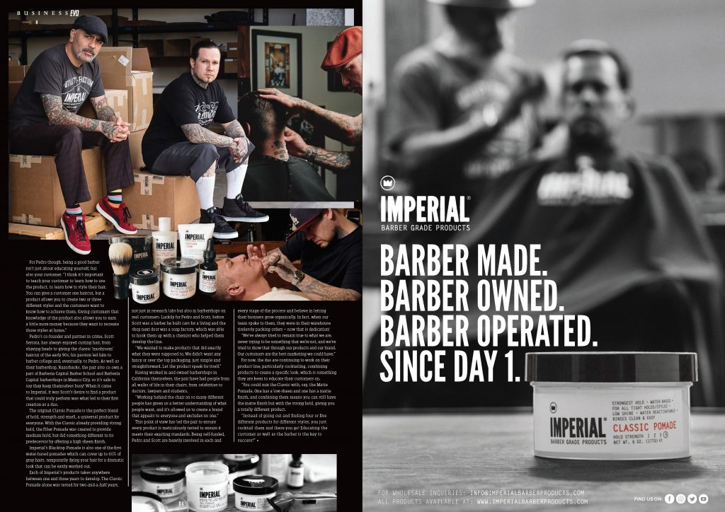 BarberEvo NA Issue 4 - Behind The Brand - Imperial Barber Products - Page 2