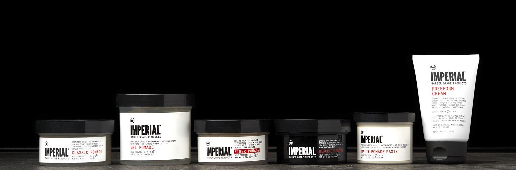 Premium Water-Based Hair Pomades | Imperial Barber Products