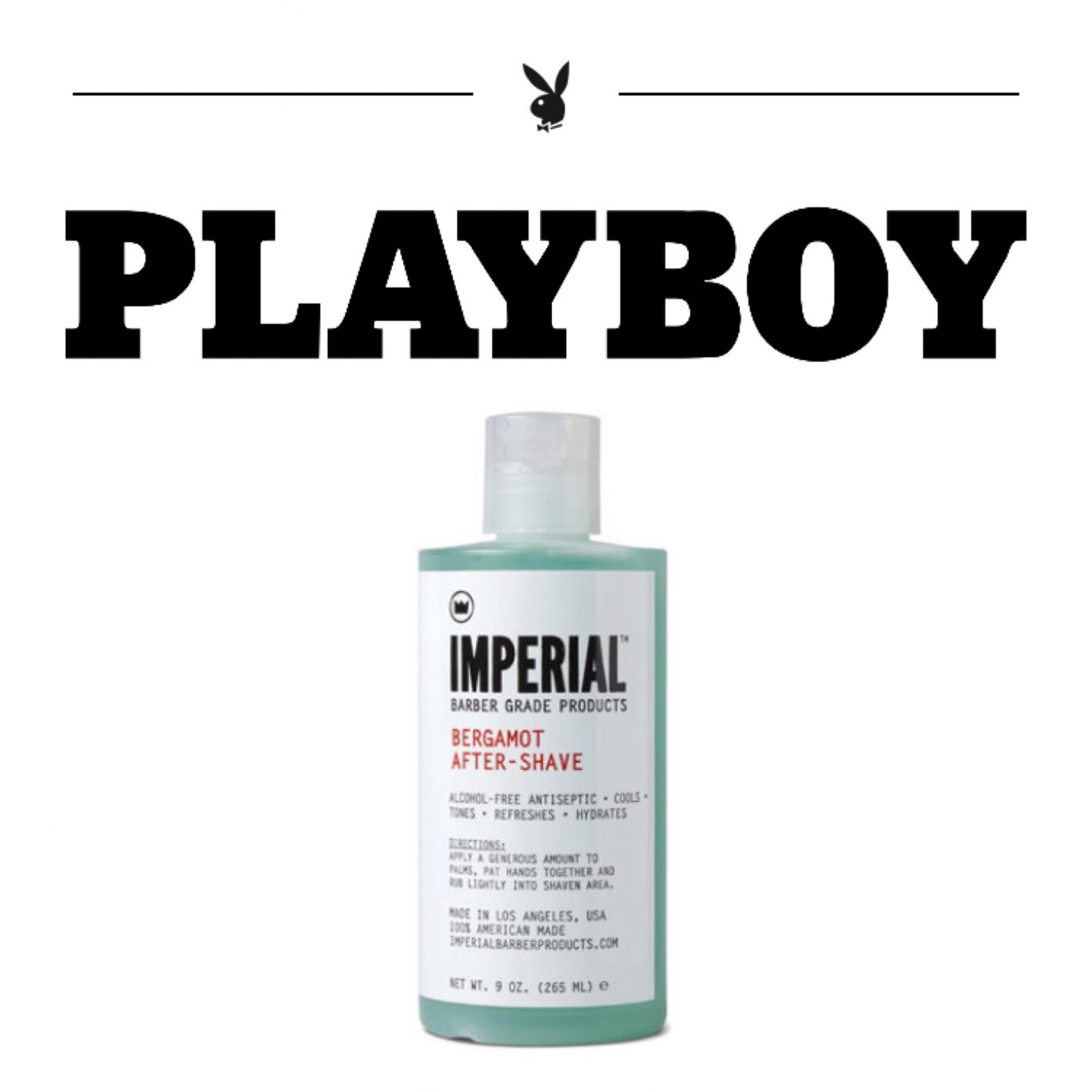 [PLAYBOY] IMPERIAL BARBER PRODUCTS BERGAMOT AFTER-SHAVE