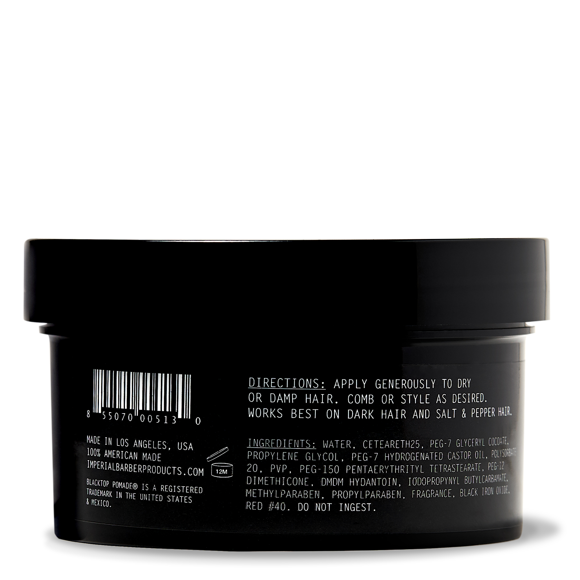 BLACKTOP POMADE (6 OZ) - BACK