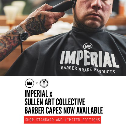 IMPERIALxSULLEN BARBER CAPES NOW AVAILABLE - SHOP STANDARD AND LIMITED EDITIONS